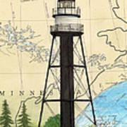 Duluth Harbor S Breakwater Inner Lighthouse Mn Nautical Chart Art Art Print