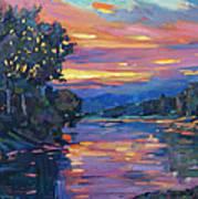 Dusk River Art Print