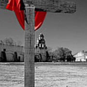 Mission San Juan Easter Cross Art Print