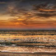 Evening At The Beach Art Print