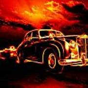 Fire  Flame  Hell  Classic Car  City Art Print