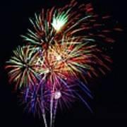 Fireworks Across The Bay Art Print