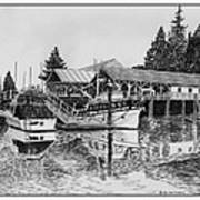Net Shed Gig Harbor Art Print