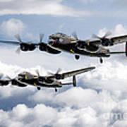 Flying Lancasters Art Print