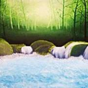 Forest Waterfall Art Print