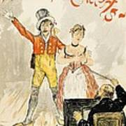 France Paris Poster Of Stage Performance At Cafe Chantant Art Print