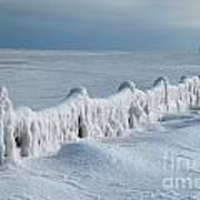 Frozen Pier Art Print