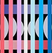 Fun Geometric  Art Print