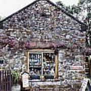 German Stone Cottage Art Print