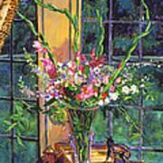 Gladiola Arrangement Art Print by David Lloyd Glover