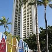 Hawaiian Surf Board's  Art Print