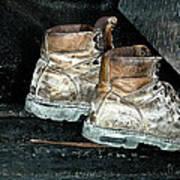 His Work Boots Art Print