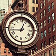Historic Clock Of The Fifth Avenue Art Print