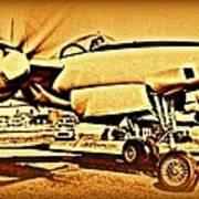 Howard Hughes And The Hughes Xf-11 Art Print