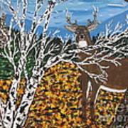 Hunter's Deer Camp Art Print