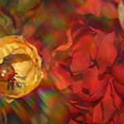 Impressionistic Bouquet Of Red Flowers Art Print