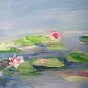 Impressionistic Lilies Monet Art Print