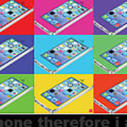 Iphone Therefore I Am Art Print