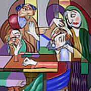 Jesus Anointed At Bethany Art Print