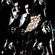 Johnny Cash Multiplied  Art Print