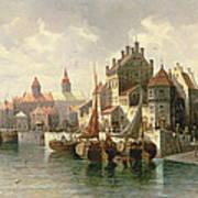 Kieler Canal Art Print