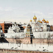 Kremlin  In Winter        Date 1908? Art Print