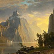 Lake In The Sierra Nevada Art Print