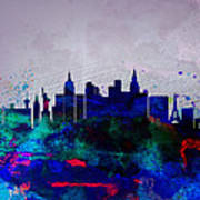 Las Vegas Watercolor Skyline Art Print