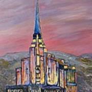 Latter Day Saints Rexburg Mormon Temple Rexburg Idaho Art Print
