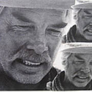 Lee Marvin Monte Walsh Variation #3 Collage Old Tucson Arizona 1969-2012 Art Print