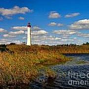 Lighthouse At The Water Art Print