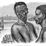 Lip-rings Of Two African  Native Women Art Print
