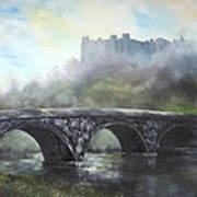 Ludlow Castle In A Mist Art Print