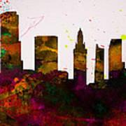 Miami City Skyline Art Print
