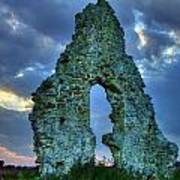 Midley Church Ruins At Dusk Art Print