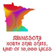 Minnesota State Map Collection 2 Art Print