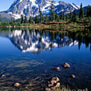 Mt. Shuksan Reflected In Picture Lake Art Print