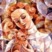 My Cat Ginger  Art Print