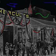 'neath Arizona Skies Homage 1934 California Powder Works  Congress Street Tucson Az Ca.1900 Art Print