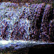 Neon Falls Art Print