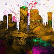 New Orleans City Skyline Art Print