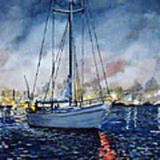 Newport Beach Harbor 4th Of July Art Print by John Leclerc