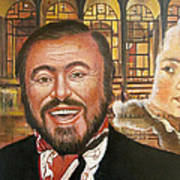 Pavarotti And The Ghost Of Lincoln Center Art Print