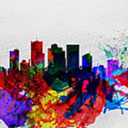 Phoenix Watercolor Skyline 2 Art Print