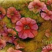 Pink Calibrachoa Photoart II   Art Print