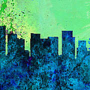Portland City Skyline Art Print