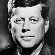 Portrait Of John F. Kennedy  Art Print by American Photographer