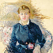 Portrait Of Louise Riesener Art Print by Berthe Morisot