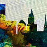 Providence City Skyline Art Print