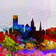 Providence Watercolor Skyline Art Print